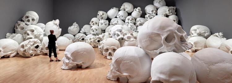 ron-mueck-100-skulls-14